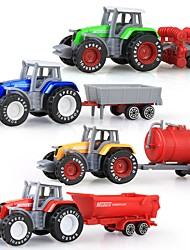 cheap -Tractor Truck Farm Vehicle Dump Truck Toy Truck Construction Vehicle Toy Car 1:50 Plastic Shell 4pcs Boys' Kid's Toy Gift