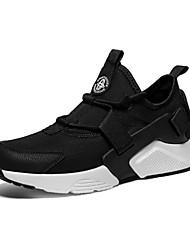 Недорогие -Муж. обувь Тюль Весна / Лето Удобная обувь Кеды Белый / Черный / Черно-белый