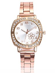 cheap -Women's Dress Watch Wrist Watch Quartz New Design Casual Watch Imitation Diamond Alloy Band Analog Casual Fashion Silver / Gold / Rose Gold - Gold Silver Rose Gold One Year Battery Life / Large Dial