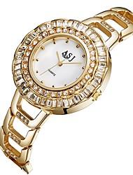 Недорогие -ASJ Жен. Повседневные часы / Модные часы Японский Имитация Алмазный Нержавеющая сталь Группа На каждый день / Мода Серебристый металл / Золотистый / Два года / SSUO 377