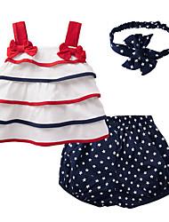 abordables -bébé Ensemble de Vêtements Fille Quotidien Galaxie Coton Eté Sans Manches Mignon Blanc