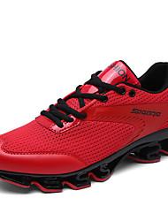abordables -Homme Chaussures Tulle Eté Automne Confort Chaussures d'Athlétisme Course à Pied pour Décontracté Bureau et carrière Blanc Noir Rouge Vert