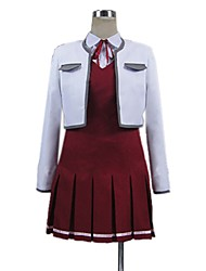 cheap -Inspired by Sword Art Online Asuna Yuuki / Cosplay Anime Cosplay Costumes Cosplay Suits Other Long Sleeve Shirt / Top / Dress For Men's / Women's Halloween Costumes