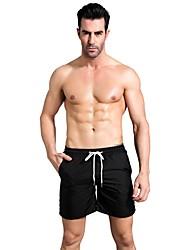 baratos -Homens Calças de Corrida - Azul, Vermelho / Branco, Cinzento Esportes Sólido Shorts Casual, Exercício e Atividade Física Roupas Esportivas Respirabilidade Micro-Elástica