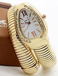 olcso Payday 27th-Női Páros Kvarc Egyedi kreatív Watch Divatos óra Alkalmi óra Kínai Alkalmi óra ötvözet Zenekar Luxus Alkalmi Ezüst Arany Vörös arany