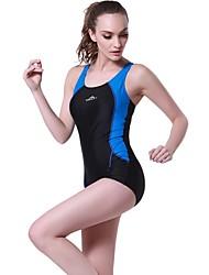 baratos -Mulheres roupa de banho Resistente ao cloro, Confortável, Esportes Fibra Sintética / Elastano Sem Manga Roupa de Banho Roupa de Praia Body Retalhos Natação
