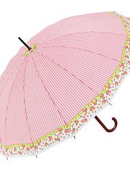 abordables -boy® Tejido Hombre / Mujer Soleado y lluvioso / A prueba de Viento Paraguas Recto