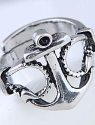 preiswerte -Herrn Bandring Silber Aleación Anker Steampunk Modisch Europäisch Alltag Modeschmuck