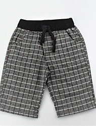 abordables -Pantalones Chico Diario Bloques Jacquard Algodón Verano Simple Casual Gris