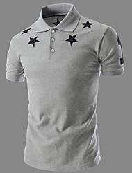 cheap -Men's Polo - Stars Shirt Collar
