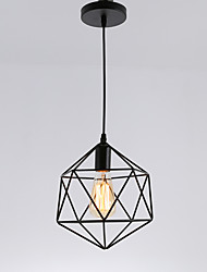 cheap -Vintage Black Metal Cage Loft Pendant Lights Living Room Dining Room Hallway Cafe Bars Light Fixture Painted Finish