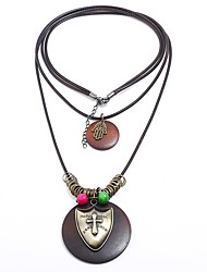 cheap -Men's Layered Necklace - Fish Statement, Rock, Steampunk Brown Necklace One-piece Suit For Masquerade, Bar