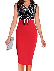 女性用 シース ドレス - ベーシック, カラーブロック