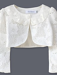 cheap -Girls' Daily Solid Blouse, Cotton Spring Fall Long Sleeves Simple White