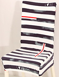 cheap -Contemporary 100% Polyester Jacquard Chair Cover, Simple Striped Printed Slipcovers