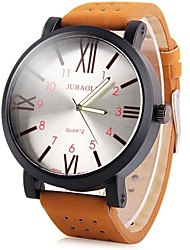 cheap -JUBAOLI Men's Casual Watch Chinese Cool / Large Dial Leather Band Brown