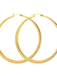 cheap -Women's Hoop Earrings - Gold Plated Simple Gold / Silver For Evening Party / Date