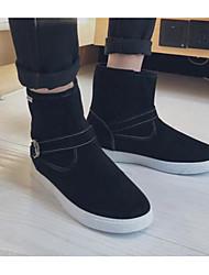 baratos -Homens sapatos Courino Inverno Outono Botas de Neve Conforto Botas Botas Curtas / Ankle para Casual Preto Amarelo Azul