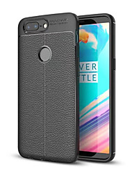 billiga -fodral Till OnePlus 5 / OnePlus 5T Stötsäker Skal Enfärgad Mjukt TPU för One Plus 5 / OnePlus 5T / One Plus 3T