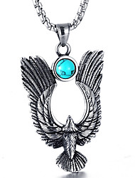 cheap -Men's Turquoise Pendant Necklace - Wings Fashion Silver Necklace For Daily, Street