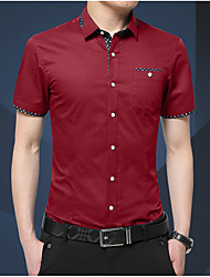 cheap -Men's Business Slim Shirt - Solid Colored