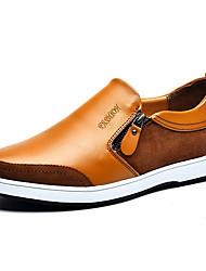 abordables -Homme Chaussures Cuir Printemps Automne Confort Mocassins et Chaussons+D6148 pour Décontracté Bureau et carrière Noir Bleu Brun claire