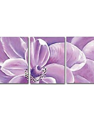 cheap -STYLEDECOR Modern Hand Painted Abstract Purple Flower Oil Painting on Canvas Wall Art for Living Room