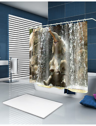 cheap -Shower Curtains & Hooks Contemporary Country Polyester Animal Machine Made