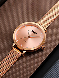 cheap -SKMEI Women's Casual Watch / Fashion Watch / Dress Watch Japanese Water Resistant / Water Proof / Casual Watch Stainless Steel Band Luxury / Casual Silver / Rose Gold