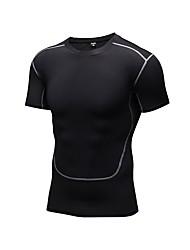 preiswerte -Herrn Laufshirt Kurzarm Atmungsaktivität T-shirt für Übung & Fitness Polyester Weiß Schwarz Blau Rot/Weiß Grau S M L XL XXL