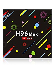 Недорогие -H96 Max 4G+64G TV Box Android 7.1 TV Box RK3328 Quad-Core 64bit Cortex-A53 4GB RAM 64Гб ROM Octa Core