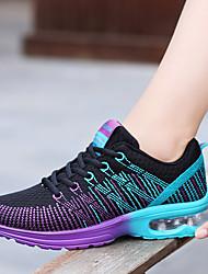 Недорогие -Жен. Обувь Полиуретан Весна Осень Удобная обувь Спортивная обувь На плоской подошве Круглый носок Шнуровка для на открытом воздухе