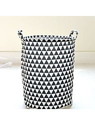 cheap -Fabric Round Cute Home Organization, 1pc Storage Baskets