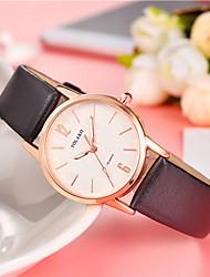 baratos -Mulheres Relógio de Moda Chinês Relógio Casual Couro Banda Fashion / Colorido Preta / Branco / Azul