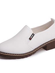 preiswerte -Damen Schuhe PU Frühling / Sommer Pumps / Komfort High Heels Stöckelabsatz Runde Zehe für Party & Festivität / Kleid Weiß / Schwarz / Rot