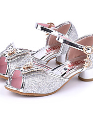 cheap -Girls' Shoes Sparkling Glitter Spring / Summer Comfort / Novelty / Flower Girl Shoes Sandals Rhinestone / Bowknot / Buckle for Silver /