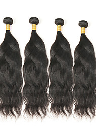 cheap -Mongolian Hair Natural Wave Remy Human Hair Natural Color Hair Weaves 4 Bundles Human Hair Weaves Natural Black