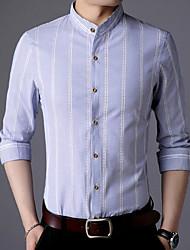 cheap -Men's Business Plus Size Shirt - Solid, Basic Button Down Collar