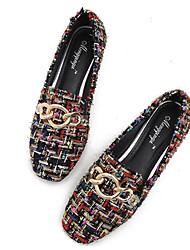 baratos -Mulheres Sapatos Couro Ecológico Primavera Outono Conforto Mocassins e Slip-Ons Salto Baixo para Arco-íris