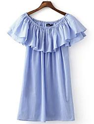 economico -Per donna Largo Vestito - Basic, A strisce