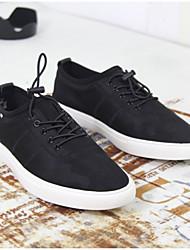 Недорогие -Муж. Полотно Весна / Лето Удобная обувь Кеды Черный