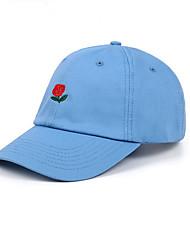 abordables -Unisexe Coton Décontracté Basique Chapeau de soleil Casquette de Baseball - Basique, Couleur Pleine Fleur