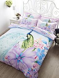 cheap -Duvet Cover Sets Floral Poly / Cotton Jacquard 4 Piece