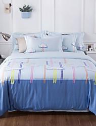 abordables -Ensembles housse de couette Moderne 4 Pièces Polyester/Coton 100% Coton Imprimé Polyester/Coton 100% Coton 1 x Housse de couette 2 x