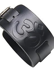 preiswerte -Herrn Leder Cool 1pc Lederarmbänder - Elegant Rock Irregulär Schwarz Braun Armbänder Für Klub Strasse
