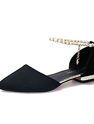 preiswerte -Damen Schuhe Wildleder Winter Mokassin Bootsschuhe Runde Zehe Schleife für Grau / Braun / Rot