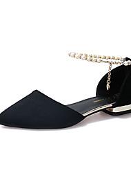 cheap -Women's Shoes PU Summer Light Soles Comfort Slippers & Flip-Flops Kitten Heel Pointed Toe for Casual Dress Black Gray Red