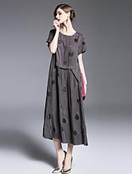 cheap -SHIHUATANG Women's Street chic Loose Dress - Polka Dot, Print