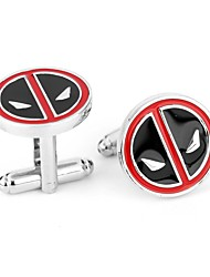 cheap -Personalized Chrome Cufflinks Groom Groomsman Wear to work Daily Wear