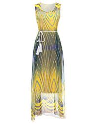 preiswerte -Damen Grundlegend Hülle Kleid - Druck, Solide Maxi